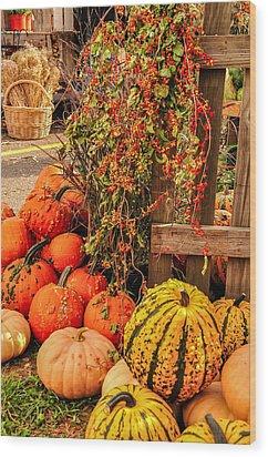 Fall Produce Wood Print
