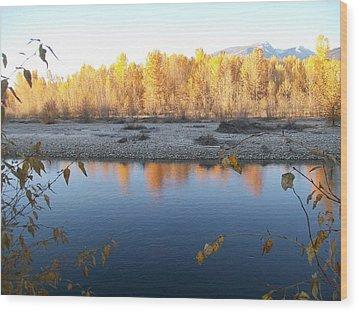 Fall Reflection 2 Wood Print by Jewel Hengen