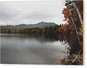 Fall Reflection II Wood Print by Christiane Schulze Art And Photography