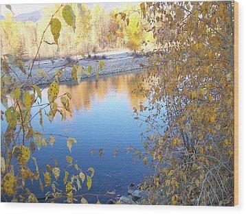 Fall Reflection Wood Print by Jewel Hengen
