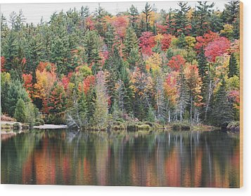 Wood Print featuring the photograph Fall Reflection by Paula Brown