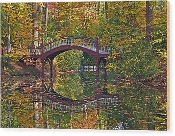 Fall Reflections At Crim Dell Wood Print