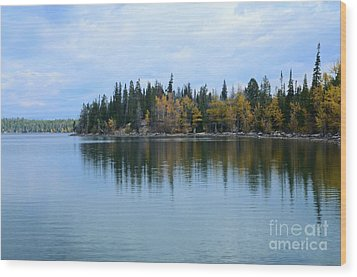Fall Reflections Wood Print by Kathleen Struckle