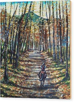Fall Ride Wood Print by Shana Rowe Jackson