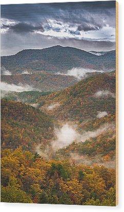 Fall Ridges Wood Print