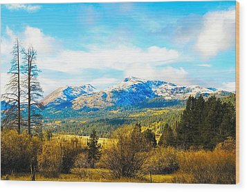 Fall Season In The Sierras Wood Print by Don Bendickson