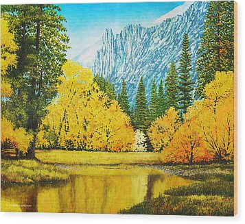 Fall Splendor In Yosemite Wood Print by Douglas Castleman