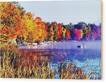 Fall Splendor Of Mid-michigan Wood Print by Daniel Thompson