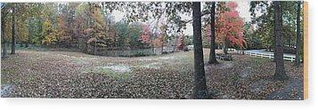 Fall Time Wood Print