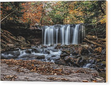 Wood Print featuring the photograph Fall Water by David Stine
