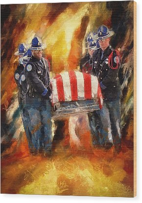 Fallen Officer Wood Print by Christopher Lane