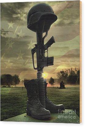 Fallen Soldiers Memorial Wood Print