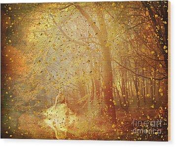 Falling ... Wood Print
