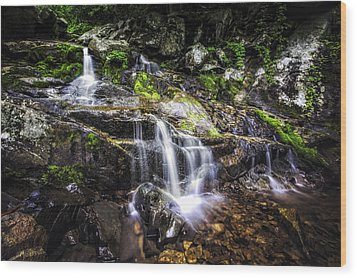 Wood Print featuring the photograph Falling Cascades  by Joshua Minso