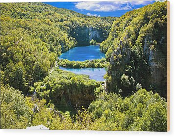 Falling Lakes Of Plitvice National Park Wood Print by Brch Photography