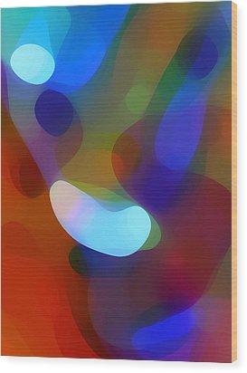 Falling Light Wood Print by Amy Vangsgard