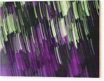 Falling Purple Wood Print by Eiwy Ahlund