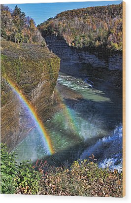 Wood Print featuring the photograph Falling Rainbow by David Stine