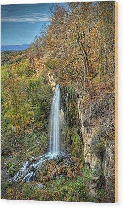 Falling Springs Falls Wood Print