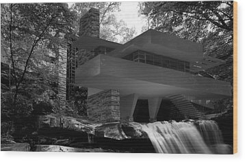 Falling Waters Wood Print by Louis Ferreira