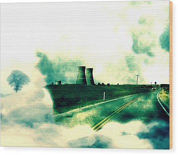 Wood Print featuring the digital art Fallout by Lisa McKinney