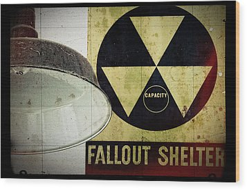Fallout Wood Print by Niels Nielsen