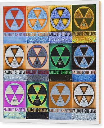 Fallout Shelter Mosaic Wood Print by Stephen Stookey