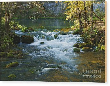 Wood Print featuring the photograph Falls At Alley Spring Mill by Julie Clements