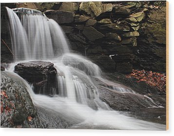 Falls At Melville Wood Print by Andrew Pacheco