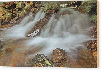 Falls Creek Mount Rainier National Park Wood Print