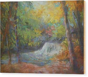 Fall's Fall Wood Print by Susan Bracken Gilday