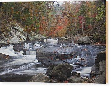 Falls Falls Falls Wood Print by Robert Camp