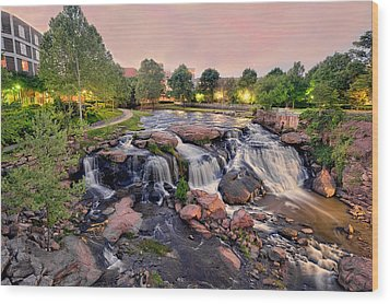 Falls Park Wood Print by Brent Craft