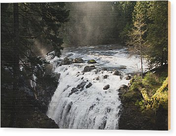 Waterfall Magic Wood Print by Marilyn Wilson