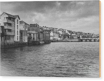 Falmouth Waterfront Wood Print by Brian Roscorla