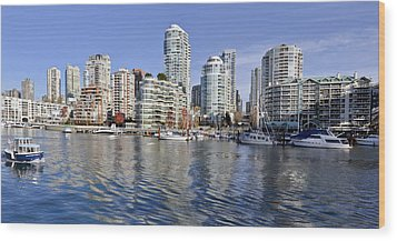 False Creek And Vancouver Wood Print by Allen Carroll