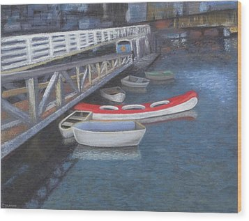 False Creek Ferry Landing Wood Print