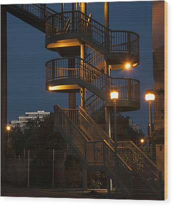 False Creek Stairway Wood Print
