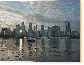 False Creek Sunset Wood Print