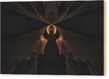 Wood Print featuring the digital art False Prophet by GJ Blackman