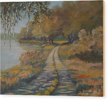 Familiar Road Wood Print by Dorothy Allston Rogers