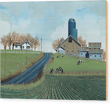Family Dairy Wood Print by John Wyckoff