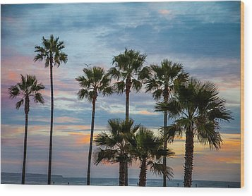 Family Of Palms Wood Print