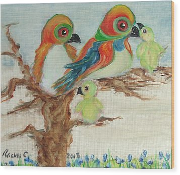 Family Outing. Wood Print by Rachel Carmichael