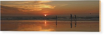 Family Reflections At Sunset - 4 Wood Print by Christy Pooschke