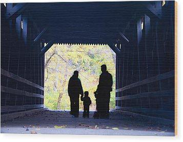 Family Time Wood Print by Bill Cannon
