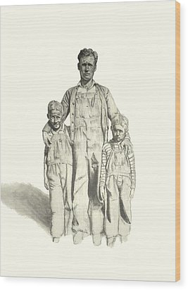 Family Wood Print by Todd Spaur