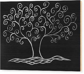 Family Tree Wood Print by Jamie Lynn