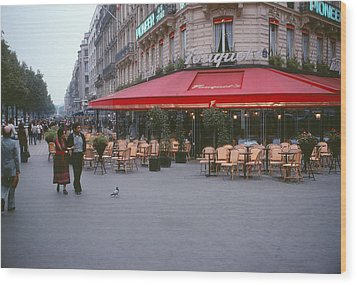 Famous Paris Restaurant - Fouquet's Wood Print