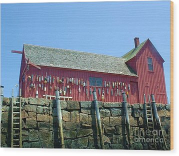 Wood Print featuring the photograph Famous Photographers Landmmark Rockport Ma by Mary Lou Chmura